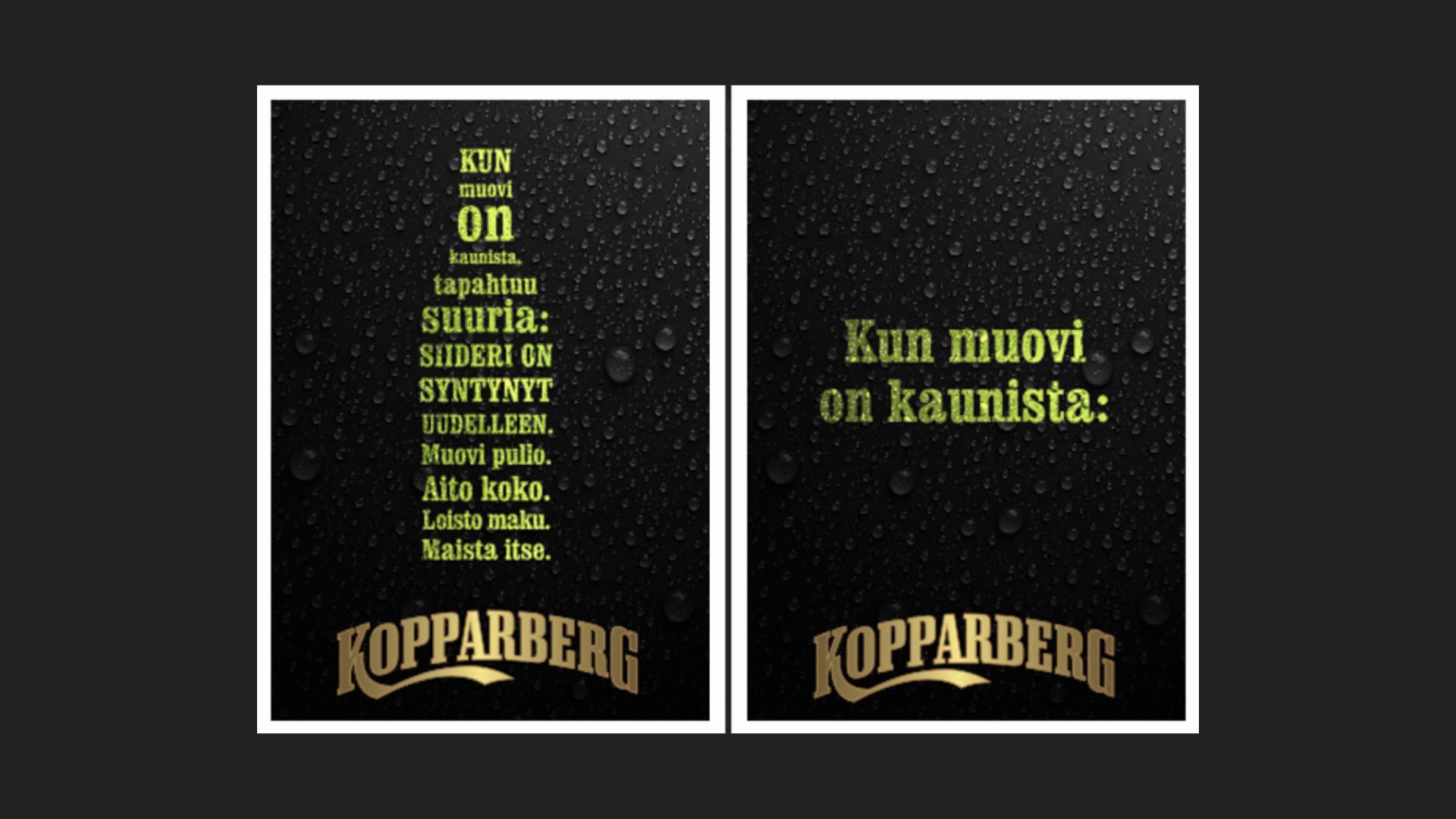 Kopparberg myymälämainonta